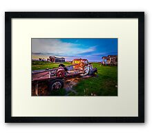 Moving Days are Over Framed Print
