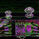 Oysters In Outer Space in Neon Glow by MaeBelle