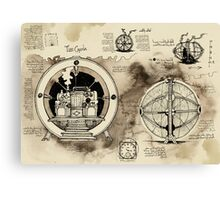 Time Machine sketches Canvas Print