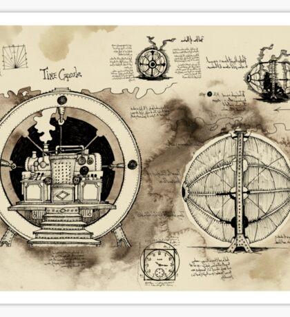 Time Machine sketches Sticker