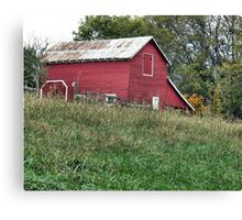"""Red Barn""... prints and products Canvas Print"
