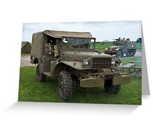 Dodge Weapons Carrier Greeting Card