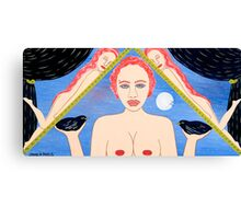TWO AND ONE HALF NAKED WOMEN Canvas Print