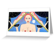 TWO AND ONE HALF NAKED WOMEN Greeting Card