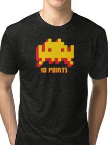 Space Invaders 10 Points Tri-blend T-Shirt