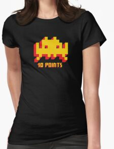 Space Invaders 10 Points Womens Fitted T-Shirt