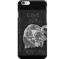 Thirtsy for Life Drawing of Dog Drinking Water  iPhone Case/Skin
