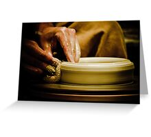 Wheel Turned Pottery Greeting Card