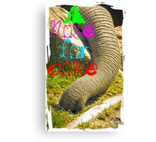 A nose for coke Canvas Print