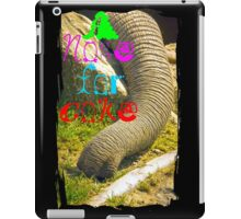 A nose for coke iPad Case/Skin
