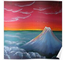 Oil Painting - Clouds Above, Clouds Below... 2010 Poster