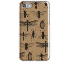 Entomology studies pattern iPhone Case/Skin