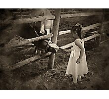 The Flower Girl's Job Photographic Print
