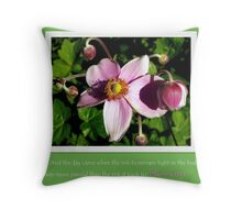 Take the risk to blossom Throw Pillow