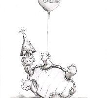 Belated Birthday Turtle by David T. Mitchell