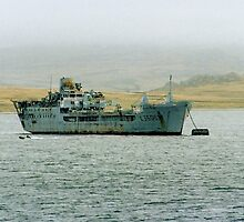 "RFA ""SirTristram"" in Port William FI by Colin Smedley"