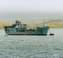 "RFA ""SirTristram"" in Port William FI by Colin Smedley"