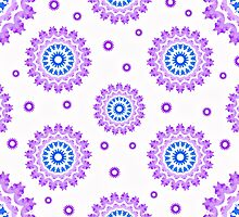 Circles * Purple & Blue by Ana CB Studio