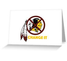 Change It: Redskins Greeting Card