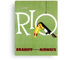 Rio Vintage Travel Poster Restored Canvas Print