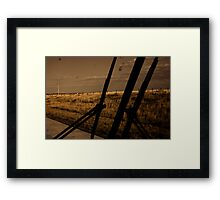 somewhere about the midwest. Framed Print