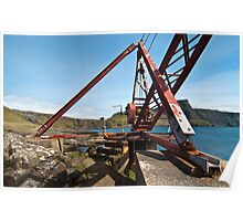 Crane at Neist Point Poster