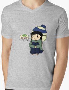 Teen Sherlock - Go Away! I'm in my mind palace! Mens V-Neck T-Shirt