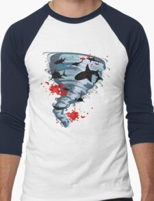 Shark Tornado - Science Fiction Shark Movie - Shark Attack - Shark Tornado Oh Hell No - Sharks! Men's Baseball ¾ T-Shirt