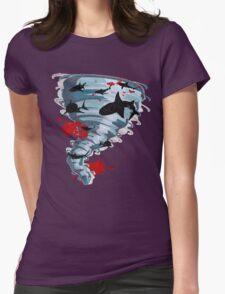 Shark Tornado - Science Fiction Shark Movie - Shark Attack - Shark Tornado Oh Hell No - Sharks! Womens Fitted T-Shirt