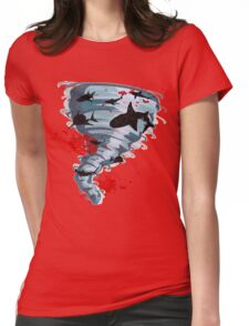 Shark Tornado - Science Fiction Shark Movie - Shark Attack - Shark Tornado Oh Hell No - Sharks! Womens Fitted T-Shirt