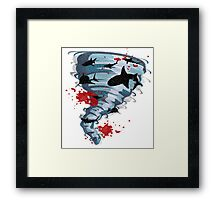 Shark Tornado - Science Fiction Shark Movie - Shark Attack - Shark Tornado Oh Hell No - Sharks! Framed Print