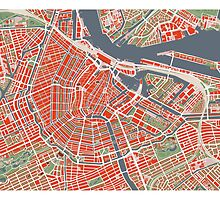 Amsterdam city map classic by PlanosUrbanos