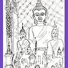 Thailand-Inside a Buddhist Wat * by James Lewis Hamilton