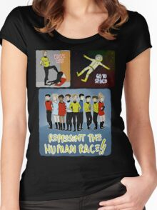 kick ass go to space represent the human race Women's Fitted Scoop T-Shirt
