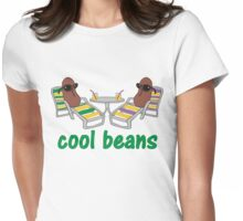 Funny Cool Beans in Beach Chairs and Shades Womens Fitted T-Shirt