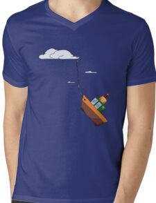 Drifting with the tide of the sky Mens V-Neck T-Shirt