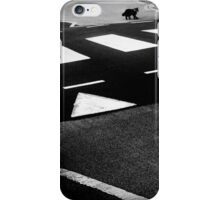 black cat crossing iPhone Case/Skin