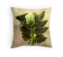 The Bow of the Fern Throw Pillow