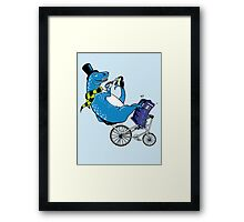 Tandem T-Rex with Toucan and Tea while Tardis Toils Framed Print
