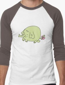 E for Elephant Men's Baseball ¾ T-Shirt