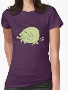 E for Elephant Womens Fitted T-Shirt