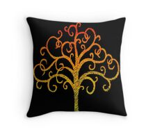 Firey Tree Throw Pillow