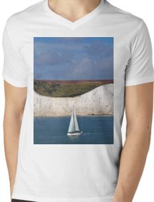 White Cliffs Of Dover Mens V-Neck T-Shirt