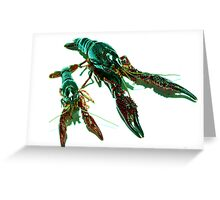 Two Crawly Critters Greeting Card