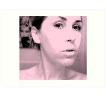 naked face Art Print