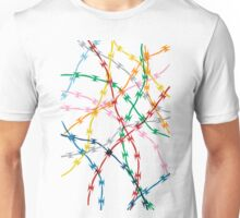 Trapped on White Unisex T-Shirt