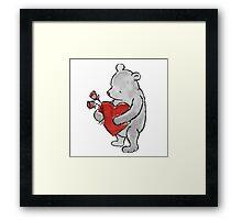 Pooh - Valentine Framed Print