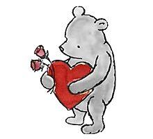 Pooh - Valentine Photographic Print