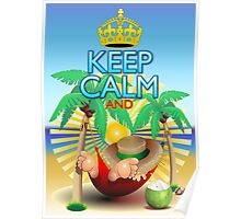 Keep Calm and...Relax on Hammock! Poster