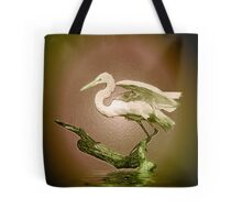 Egret on Show Tote Bag